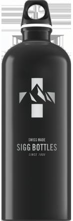 Бутылка для воды Mountain Black 1l